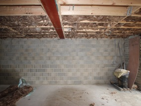 Home Office - Garage Space Steelwork & Insulation